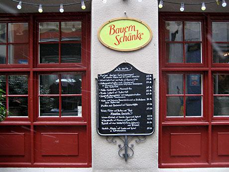 Bauernschänke restaurant